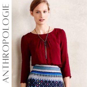 ANTHROPOLOGIE Brand Maeve Emmaline Top, Size 6